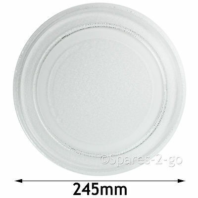 Argos Value Microwave Turntable Dish Plate Smooth Gl 245mm
