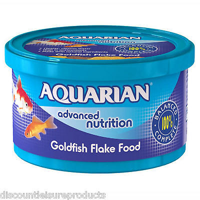Aquarian Cold Water Goldfish Flake Aquarium Tank Fish Food 200G