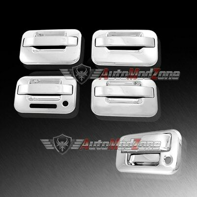 04-14 Ford F150 Gloss Black 4 Door Handle+keypad+no PSG KH+Tailgate Cover Kit