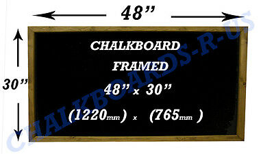 Chalkboards - Blackboards  - Menu Boards - Various Sizes Available - Dark Oak