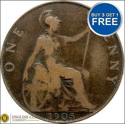 1902 To 1910 Edward Vii Penny / Pennies Choice Of Year / Date