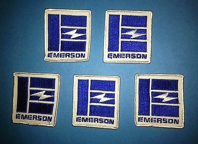 5 Lot Vintage Emerson Electric Radio T.V. Uniform Coveralls Work Shirt Patches