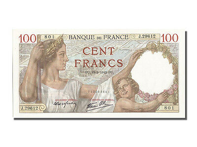 [#202654] France, 100 Francs, 100 F 1939-1942 ''Sully'', 1942, KM #94