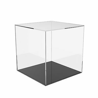 Acrylic Cube Display Stand Square 6 Sided Box Perspex Tray Retail Shop Holder