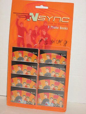 Winterland Official Tour Merchandise 8 N Sync Mini Phone Books New Sealed
