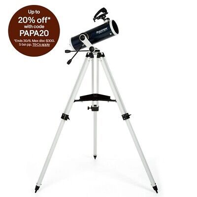 Celestron Omni XLT AZ 114 Astronomical Telescope With Tripod 22151