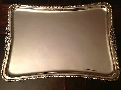 European Vintage Silver Tray  in very good condition. 800 Hallmark 712 grams .