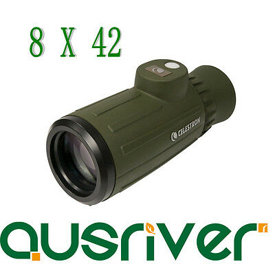 Celestron Cavalry Series 8X42 Monocular With integrated Compass & Reticle 71215