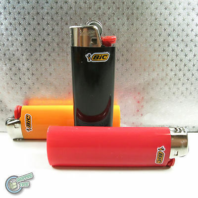 3x Bic Child Guard Cigarette Tobacco Lighter Maxi Large