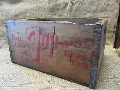 Vintage Wooden 7UP Crate > Antique Old Seven Up Sign Signs Soda Cola 8511