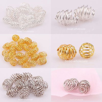 50pcs Plated Rotation Pattern  Silver/Golden/Dark Silver Ball Spacer Beads Hot