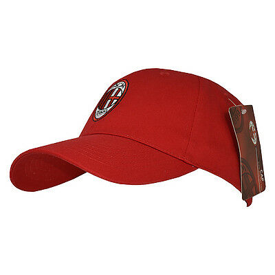 Ac Milan Fc Embroidered Crest Baseball Cap Adult One Size Hat      I Rossoneri