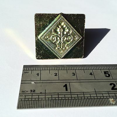 3D Scroll Square Concho Leather Stamp - CRAFT CARVING EMBOSSING