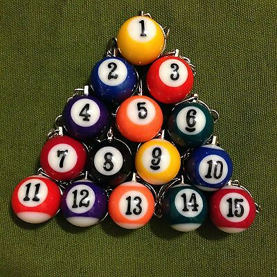 Choose Your Favorite Number -- Billiards Pool Ball Key Chain  Key Ring