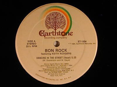 "Bon Rock w.Keith Rodgers (12"" single) DANCING IN THE STREETS 3 versions~VG++ r+b"