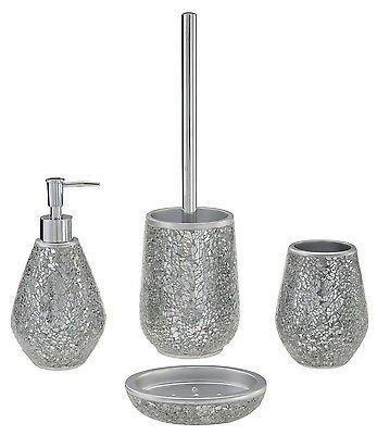 Reflexions | Bathroom Accessory Set, Soap Dish, Tumbler, Dispenser, Toilet Brush