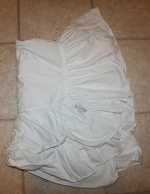 Pottery Barn Kids Crib Toddler Bed White/Off White Sham