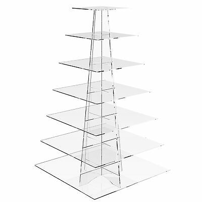 7 Tier Cup Cake Stand Wedding Birthday Party Acrylic Cupcake Display - Square