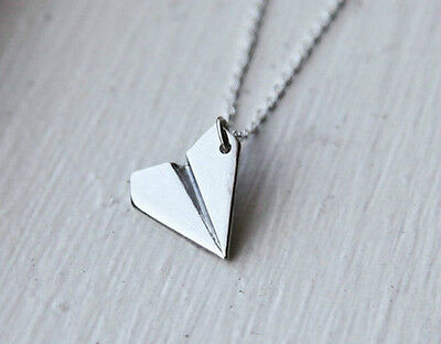 Brand New Cute Harry Styles 1D One Direction Paper Plane Airplane Necklace