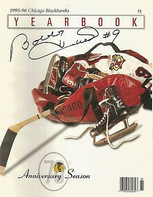 Blackhawks Yearbook 1995-96 Signed By Bobby Hull