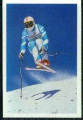 Scarce Trade Card of Martin Bell, Skiing 1986