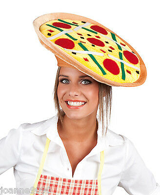 Pizza Italian Chef Italy Eurovision Fancy Dress Costume Fun Party Hat Fast Food
