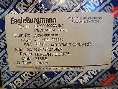 New Eagle Burgmann B130005000A Mechanical Seal