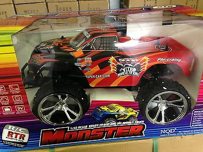 1:10 Scale RC Remote Control RTR MONSTER Truck - RED - NEW