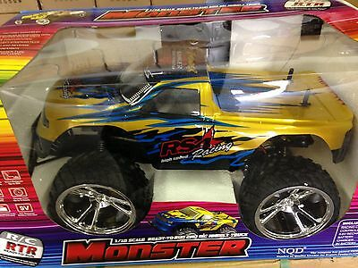 1:10 Scale RC Remote Control RTR MONSTER Truck - GOLD - NEW