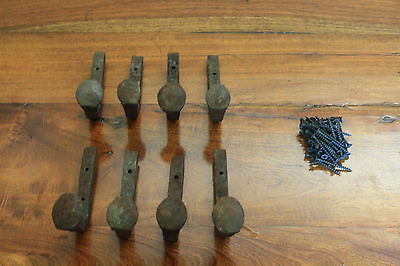 8 Old Railroad Spike Horse Tack Hooks, Barn Handles, or Knobs Retro Vintage