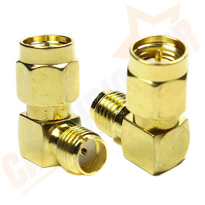 Right Angle Sma Male To Sma Female Adaptor Connector 90 Degree Gold Low Static