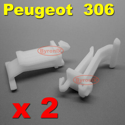 Peugeot 306 Grille Clips Bumper Moulding Trim Under Headlamp Headlight