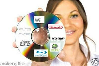50 X Video Game Disc Pro Repair Service Resurface Wii Xbox 360 PS3 PS2 PS1 Cube