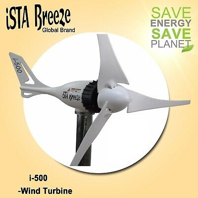 12V/24V White Edition 500W WINDGENERATOR,WIND TURBINE iSTA-BREEZE® WINDKRAFT