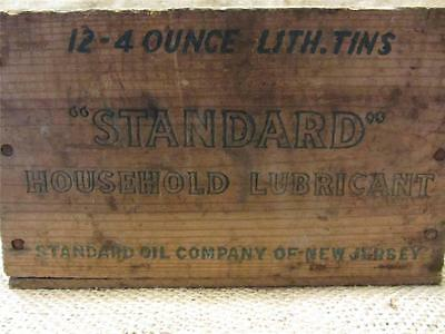 Vintage Standard Oil Company Wooden Crate Sign > Antique Old Gas RARE 8522