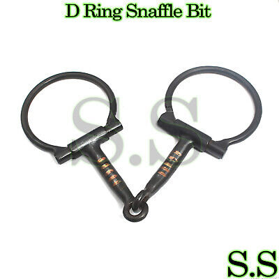 5 inch D Ring Snaffle Bit With Copper Rollers, BT-005