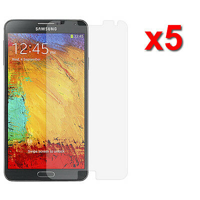 5X Crystal Clear LCD Screen Protector For Samsung Galaxy Note 3 III Accessory
