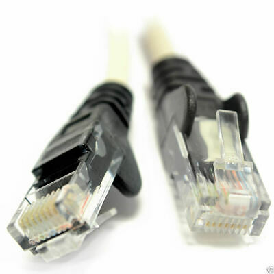 1m Network Cat 5E CCA Crossover Cable Connect Two PCs Together [006846]