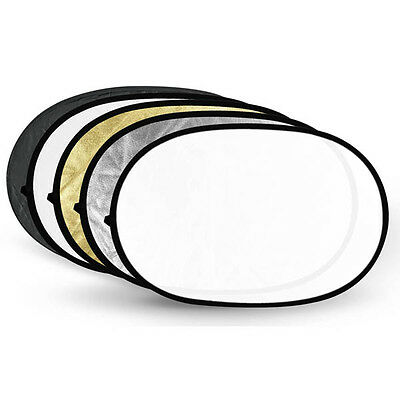 """24""""*36"""" 5-in-1 Collapsible Multi Disc Light Reflector for Reflector Holders"""