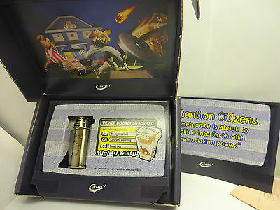 Vintage Camel Lighter in Original Box  Attention...This is NOT A TEST  Meteorite