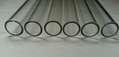 "4 "" Glass Pyrex Blowing 5 Tubes 10mm OD 8mm ID Tubing 1mm Wall Free Shipping"