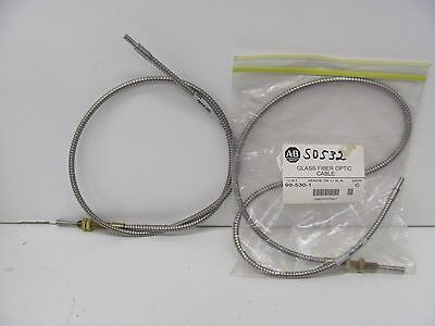 LOT OF 2 - USED + Allen Bradley ( 99-530-1 ) Glass Fiber Optic Cable