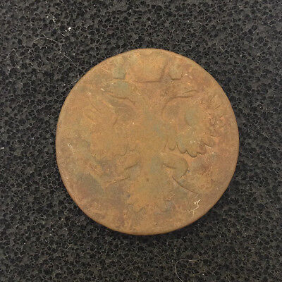 1735 DENGA OLD RUSSIAN IMPERIAL COIN ORIGINAL (NOT CLEANED)