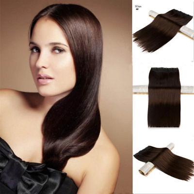"""Premium 16"""" 100% Remy Human Hair extensions clips one piece full head wholesale"""