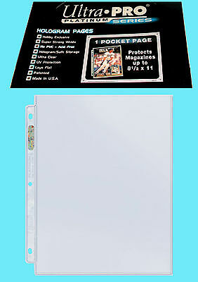"25 ULTRA PRO PLATINUM 1-POCKET 8.5x11 Pages Sheets Protectors Binder 8-1/2""x11"""