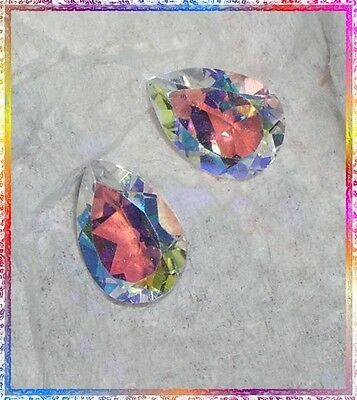 Moonglow Orange Mystic Topaz - Matched Pair of 10mm x 7mm Pear Cuts - 4.60 ctw