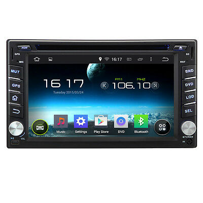 Double 2Din Android 4.4 Car DVD Player GPS Navigation Radio FM USB IPhone MP3 CD