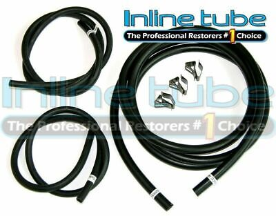 68-72 GTO lemans Judge Windshield Washer Fluid Rubber Hose Set W clips 2 Sizes