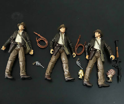 lot of 3 Indiana Jones Raiders of the Lost Ark action figure loose #kjk4