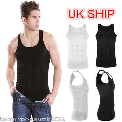 Men Slimming Tummy Body Shaper Vest N LIFT Fitted Control Chest Vest Compression